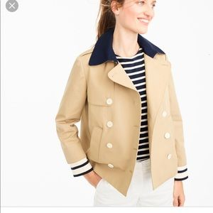 JCREW cropped trench coat